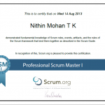 Certified–Professional Scrum Master-I(PSM-I)