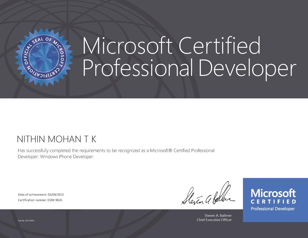 Microsoft Cloud Certification Microsoft Cloud Computing